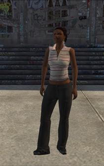 Generic black female - b5 - character model in Saints Row
