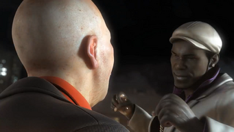 Pierce preparing to punch a Morningstar gang member in the Saints Row The Third Power CG trailer