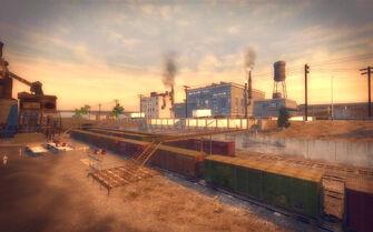 Pilsen in Saints Row 2 - refinery bridge