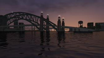 Saints Row loading screen - bridge