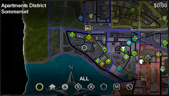 Sommerset map in Saints Row
