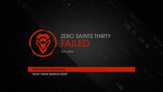 Zero Saints Thirty failure