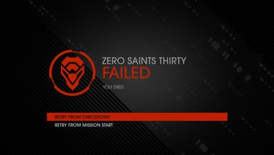 Zero Saints Thirty failure