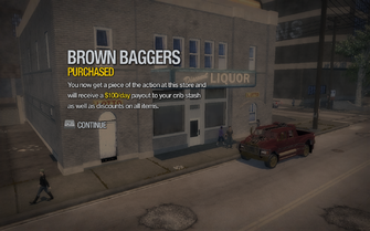 Brown Baggers in Poseidon Alley purchased in Saints Row 2