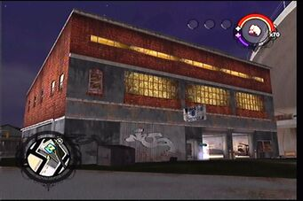 Donnie's second garage as it appears in Saints Row - exterior
