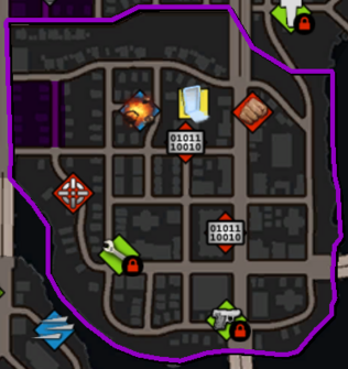 Brickston map in Saints Row IV