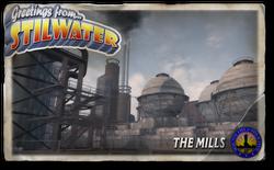 Postcard hood the mills