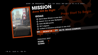 Saints Row Money Shot Mission objectives - Anna Will Be Right Back - 1 of 3 goals screen