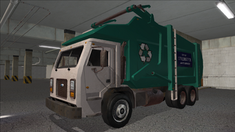 Saints Row variants - Stilwater Municipal - Recycle Truck - front left