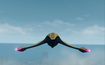 Aegean - rear in flight in Saints Row The Third
