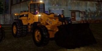 Bulldozer with lights - front right in Saints Row