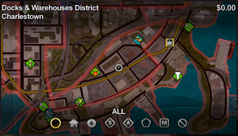 Charlestown map in Saints Row