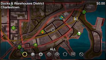 Charlestown map in Saints Row