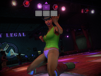 Dancing Queen - Playa kneeling on stage