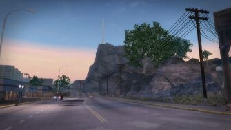 Mount Claflin - View from Apartment District in Saints Row 2