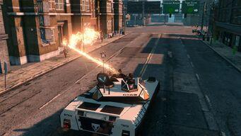 Crusader Laser Beam being fired