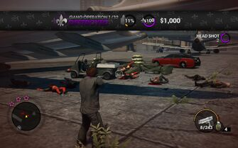Gang Operation completed at airport in Saints Row The Third