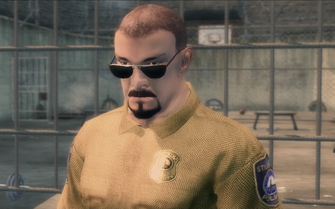 Officer Taylor in Fight Club cutscene