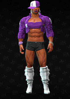 Pierce dressed as Aisha - character model in Saints Row The Third