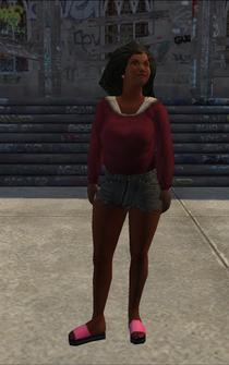 PoorTrash female - black - character model in Saints Row