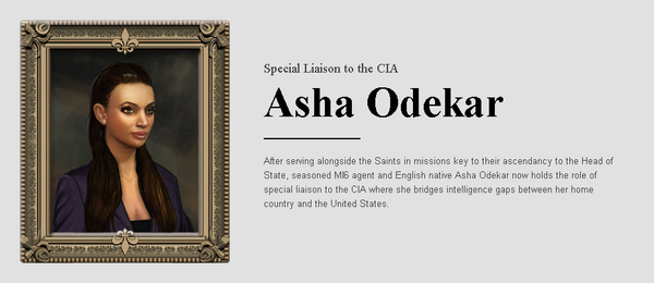 Saints Row website - People - The Cabinet - Asha Odekar