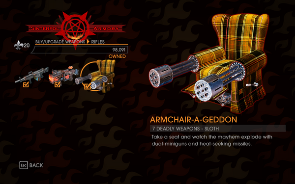 Gat out of Hell - 7 Deadly Weapons - Sloth