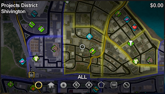 Shivington map in Saints Row