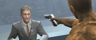 ... and a Better Life - Playa pointing a gun at Dane