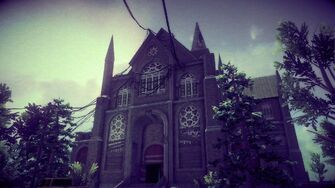 Saints Row Church - front right exterior in Saints Row IV