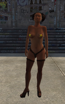 Stripper - Black - pasty - character model in Saints Row