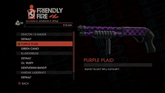 Weapon - Shotguns - Pump-Action Shotgun - Deacon 12-Gauge - Purple Plaid