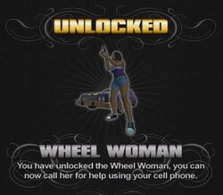 Wheel Woman unlock screen