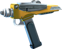 SRIV Pistols - Quickshot Pistol - Red Shirt Special - Interstellar Yellow