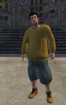 Vice Kings male THUG1-02 - White fro - character model in Saints Row