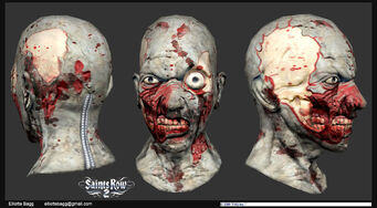 Model zombie mask