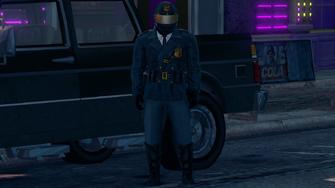 Bike cop front