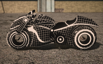 Saints Row IV variants - Wireframe Phantom Chopshop - left
