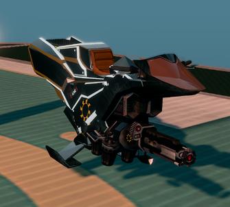 Saints Row The Third DLC vehicle - Ultor Interceptor - parked - angle