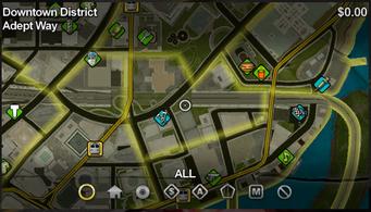 Adept Way map in Saints Row