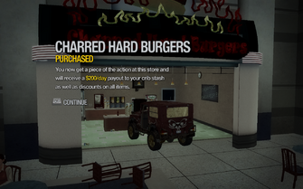 Charred Hard Burgers in Wardill Airport purchased in Saints Row 2