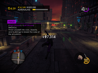 Fraud in Saints Row IV - Ragdoll tutorial text