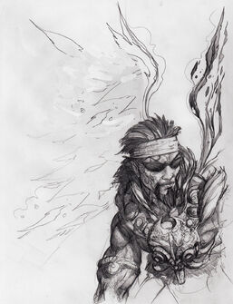 Johnny Gat Concept Art - Gat out of Hell Barbarian look - headband