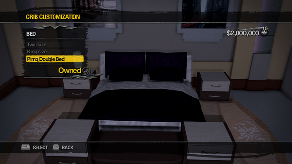 Penthouse Loft - Crib Customization - Bed - Pimp Double Bed