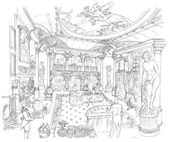 Saints Row 2 Early Poseidon's Palace Interior Concept Art