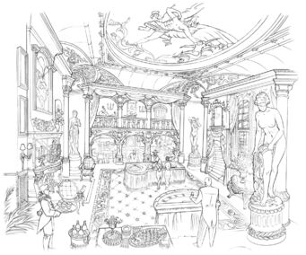 Saints Row 2 Early Poseidon's Palace Interior Concept Art