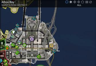 Map in Saints Row 2 - Saint's Row - Athos Bay
