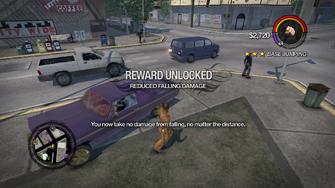 Reduced Falling Damage unlocked in Saints Row 2