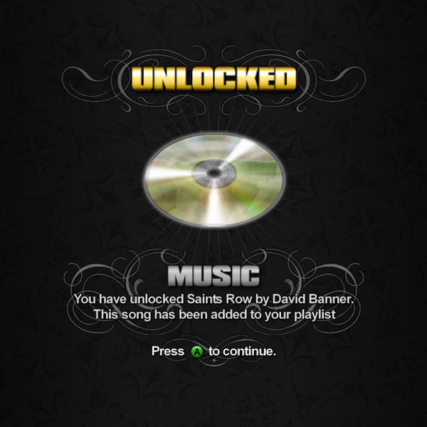 Saints Row unlockable - Music - Saints Row