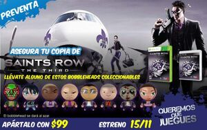 Collectable Saints Row The Third character bobbleheads promo