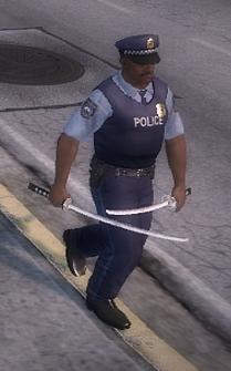 Dual Samurai Swords - NPC walking during Kanto Connection